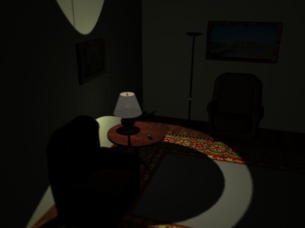 Night Room Setting